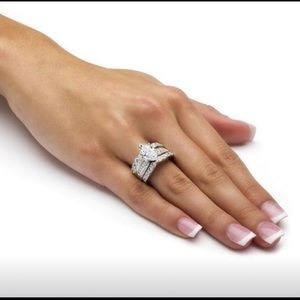 Jewelry - 3 Ring 925 Sterling MarQuise